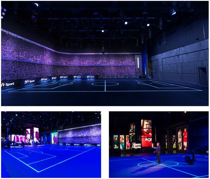 BT Sport Studio London - ASB GlassFloor - unique MultiSports floor #design #innovation