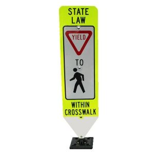Pedestrian signs are a vital part of our national transportation system. They are designed to convey important information in a high visibility format.
