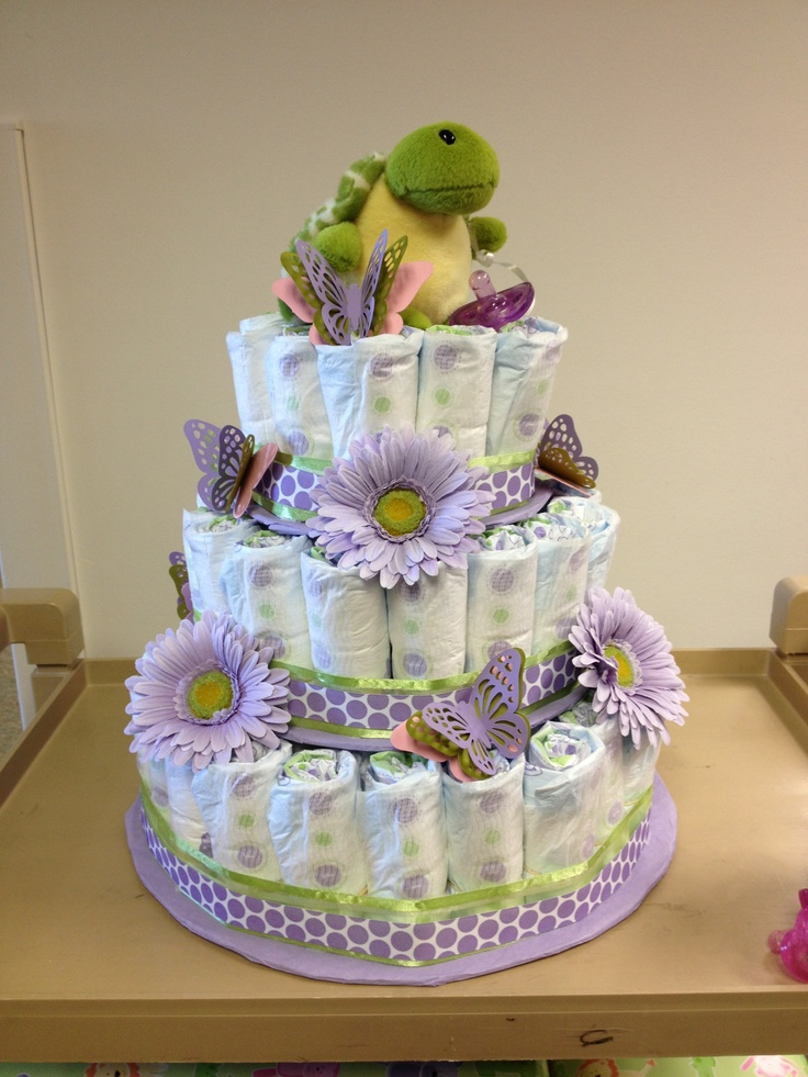 My DIY diaper cake!!!