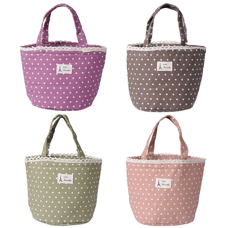 Women Thermal Insulated Lunch Box Cooler Bag Tote Bento Pouch Lunch Container #Unbranded