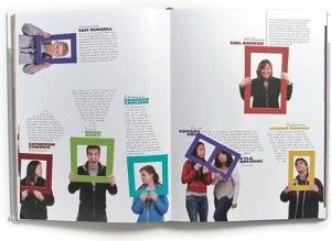 Love this idea for the yearbook staff page