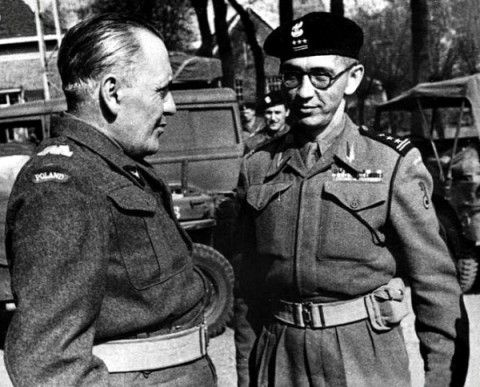 General Stanisław Maczek (left) and Colonel Franciszek Skibiński (right) 1944 - Pin by scann R