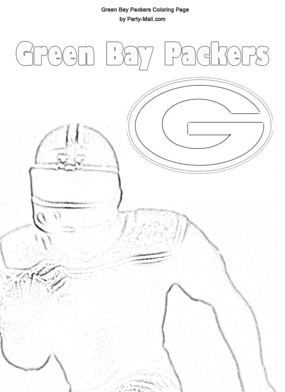Green Bay Packers Coloring Sheets | Free Green Bay Packers ...