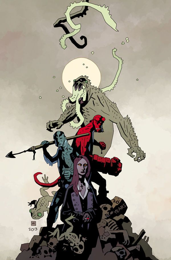 B.P.R.D.: Hell on Earth #115 (Mignola variant)