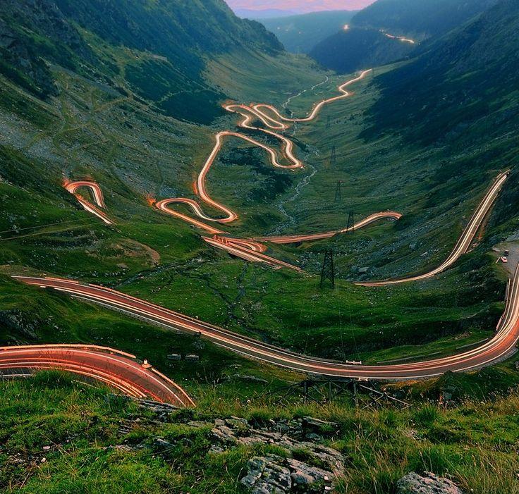 Winding Mountain Road in Romania