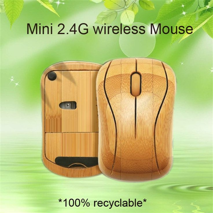 Original Bamboo 2.4G Wireless Mouse,Natural Handmade Optical wooden Wireless Mice With USB Receiver for Laptops/Desktop Computer