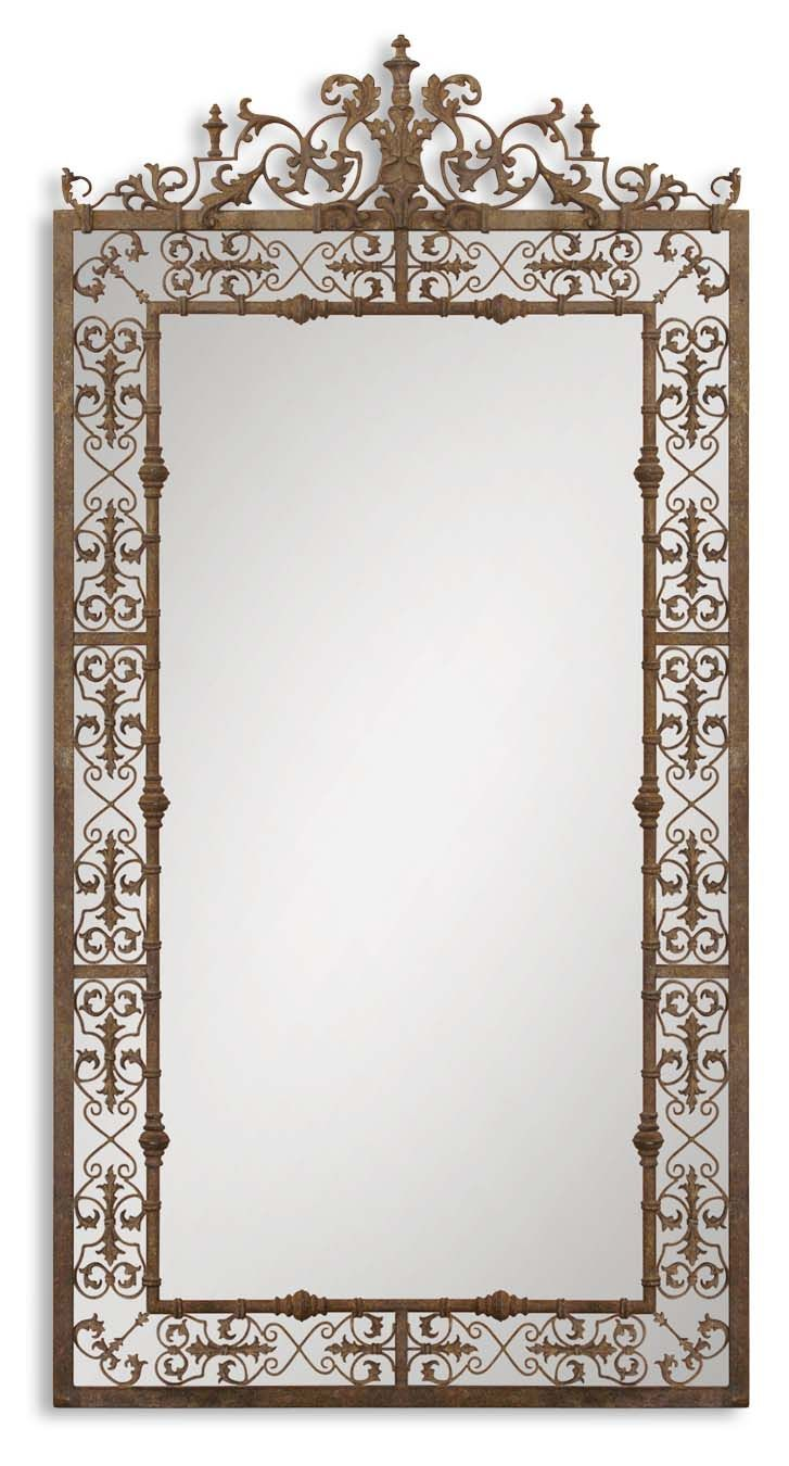 Decorative mirrors for bathrooms - Uttermost Varese Distressed Brown Mirror 12764