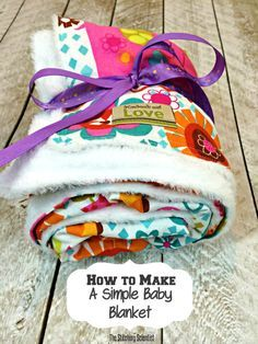 * How to sew a simple baby blanket - using cuddle on one side and flannel or baby-print cotton on the other