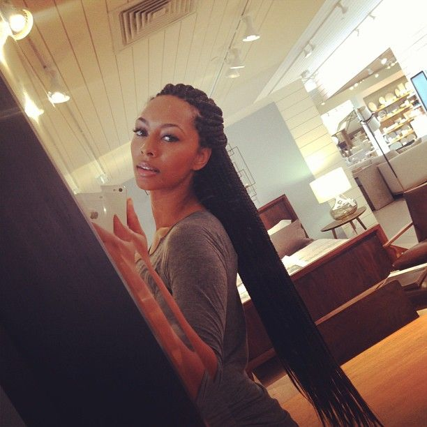 KERI HILSON / BOX BRAIDS / POETIC JUSTICE BRAIDS / PROTECTIVE HAIRSTYLES / SYNTHETIC HAIR / HAIRSTYLES / HAIR DO'S