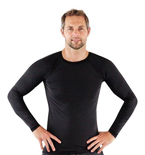 Rash Guard Shirt - Activewear For Men - Made In USA - ON SALE TODAY - LIFETIME WARRANTY - Legend Rashguards Are The Ultimate Athletic Performance Base Layer Compression Shirt. Great for Workouts, MMA (Mixed Martial Arts), SWIMMING, SURFING, BIKING, BJJ (Brazilian Jiu Jitsu), ACTIVEWEAR and Even RUNNING. Also Can Be Used as a SWIM SHIRT or Sun Protection Shirt While Hanging at the Beach or Lake. http://www.amazon.com/dp/B00KJM329K/ref=cm_sw_r_pi_awdm_eSoEub12JT2K5