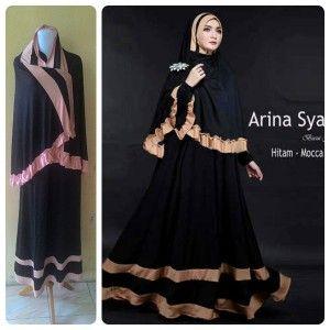 Jual Pakaian Muslim Wanita Murah Arina, Pakaian muslim wanita, fashion baju muslim, jual busana muslim, butik busana muslim online, grosir baju gamis