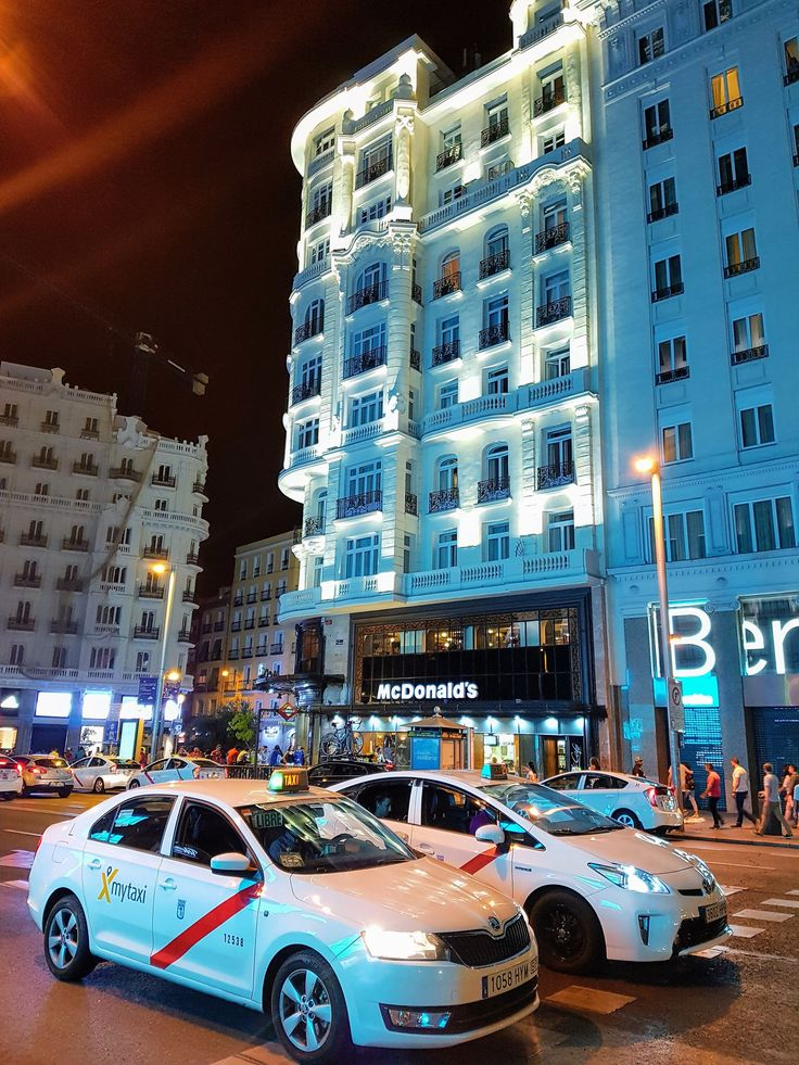 Gran via by night  Madrid