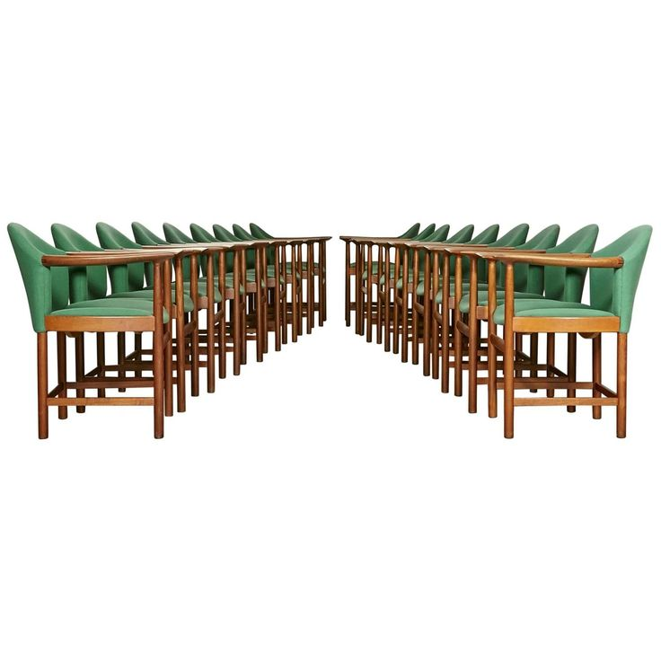 Danish Teak Conference Chairs by Peter Hvidt, Set of 18