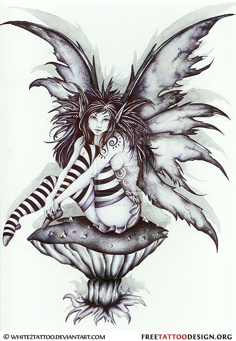 Evil Fairy Tattoos | Fairy Tattoos | Cute, Evil, Small Fairy Tattoo Designs And