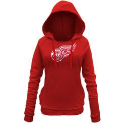 Detroit Red Wings 5th & Ocean by New Era Women's Core Brushed Fleece Pullover Hoodie - Red