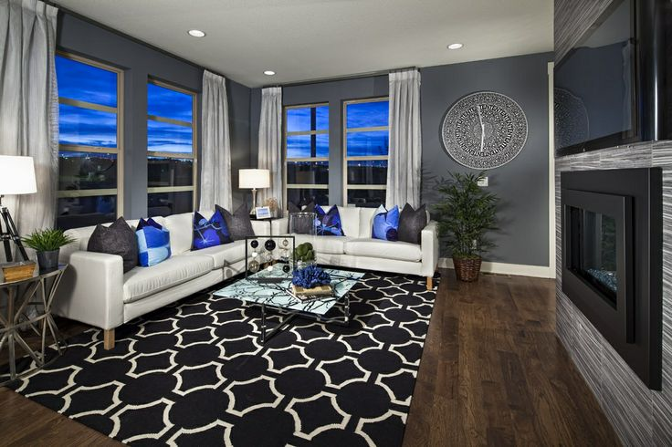 Royal blue grey white and wood for the contemporary home pinterest blue grey royals and - Royal blue living room ...