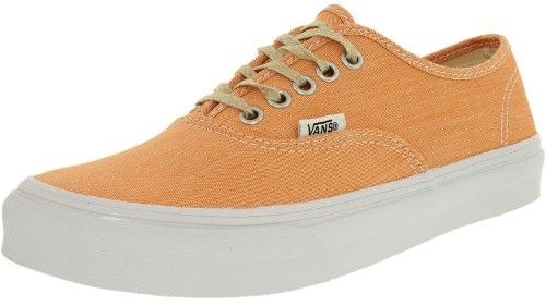 Vans Women's Authentic Slim Coral/True White Ankle-High Cotton Flat Shoe - 6.5M