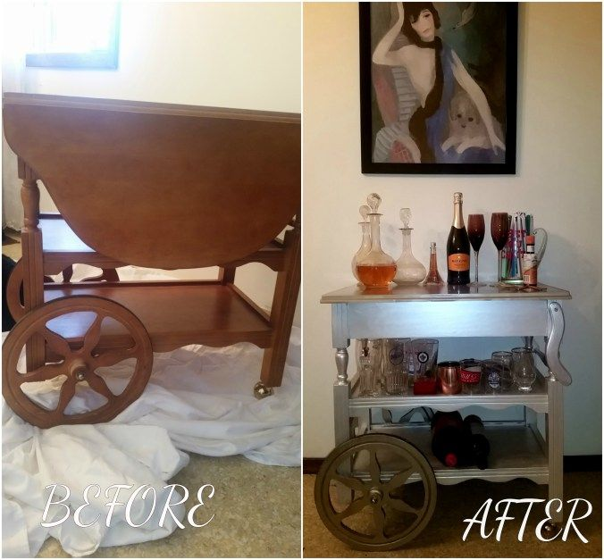 Up-cycle your way to a beautiful bar cart
