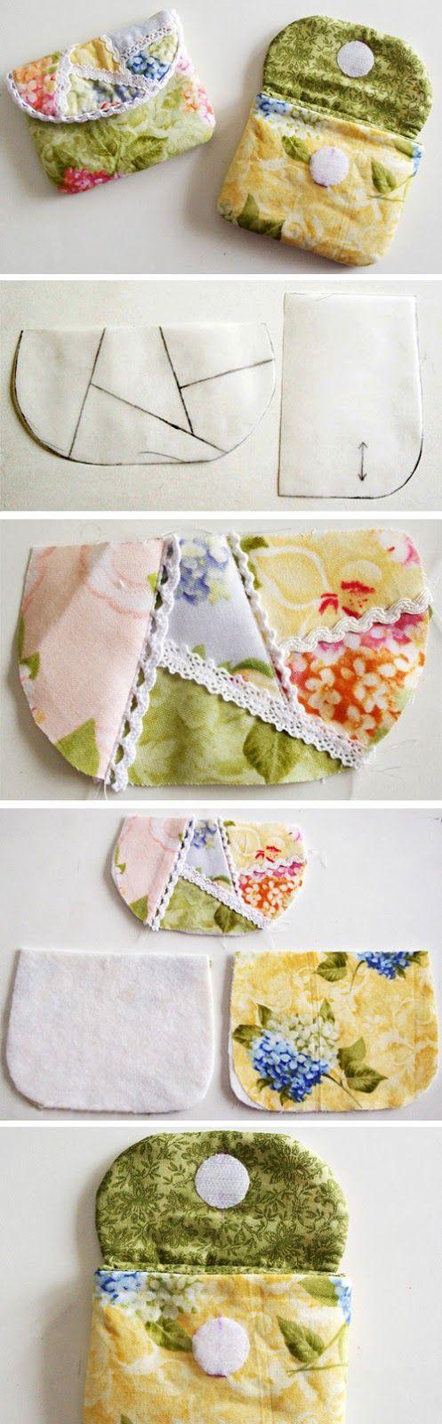 Simple Purse Patchwork. DIY Tutorial in Pictures.  http://www.handmadiya.com/2016/02/simple-purse-patchwork.html