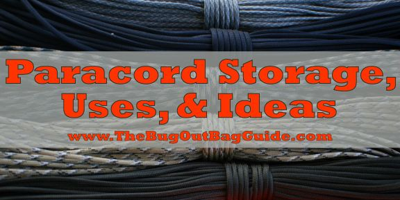 How to properly store paracord, Paracord uses for survival and DIY paracord projects.