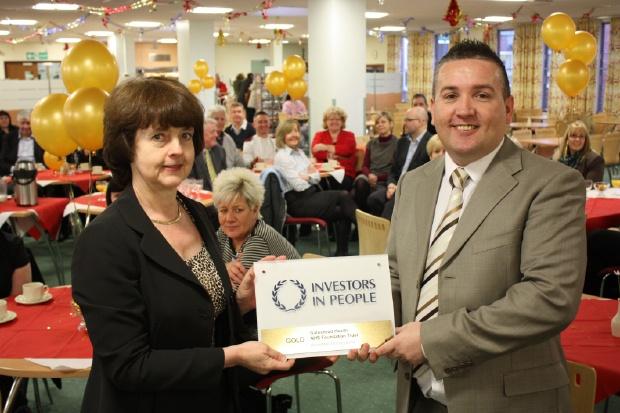 Gateshead Health NHS Foundation Trust celebrating their IiP Gold success