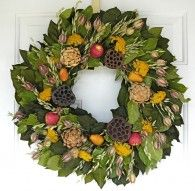 Orchard Bounty Wreath- will be  featured in Victoria Magazine this fall- keep an eye out for the photo shoot.