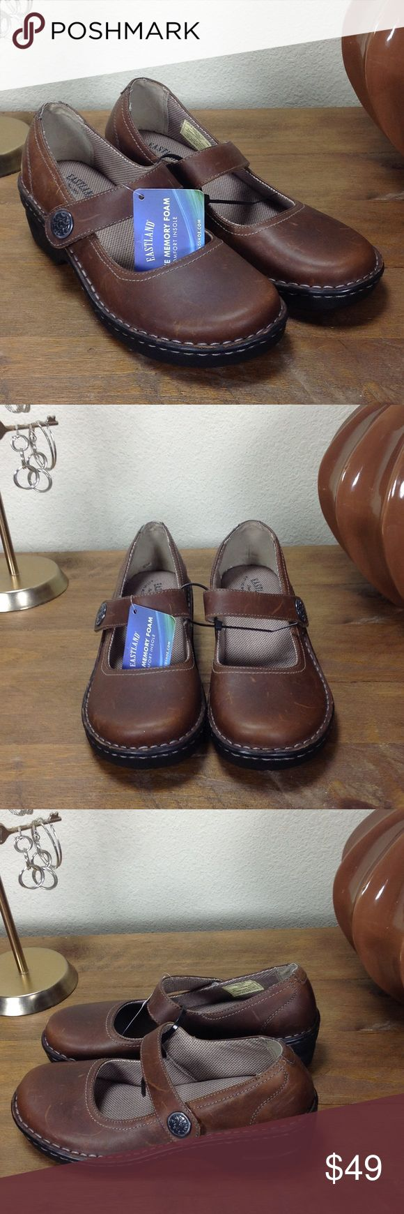 NWT Eastland Rustic Brown Leather Mary Janes New with tags rustic brown leather mary janes with memory foam insoles for the ultimate in comfort. Features 2 inch rubber and sole that make these shoes perfect for all day wear. In excellent condition with no visible scratches or marks. Thanks for your interest! Please checkout the rest of my closet. Eastland Shoes