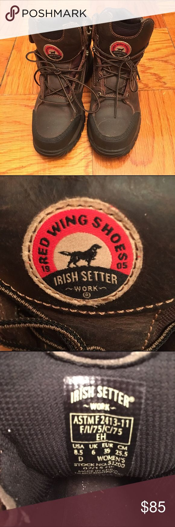 Red wing irish setter work Authentic. Never been used. No box. Selling for a friend so price firm. Red Wing Shoes Shoes Boots