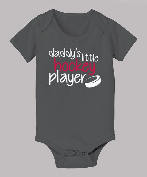 Look at this Charcoal 'Daddy's Little Hockey Player' Bodysuit - Infant on #zulily today!