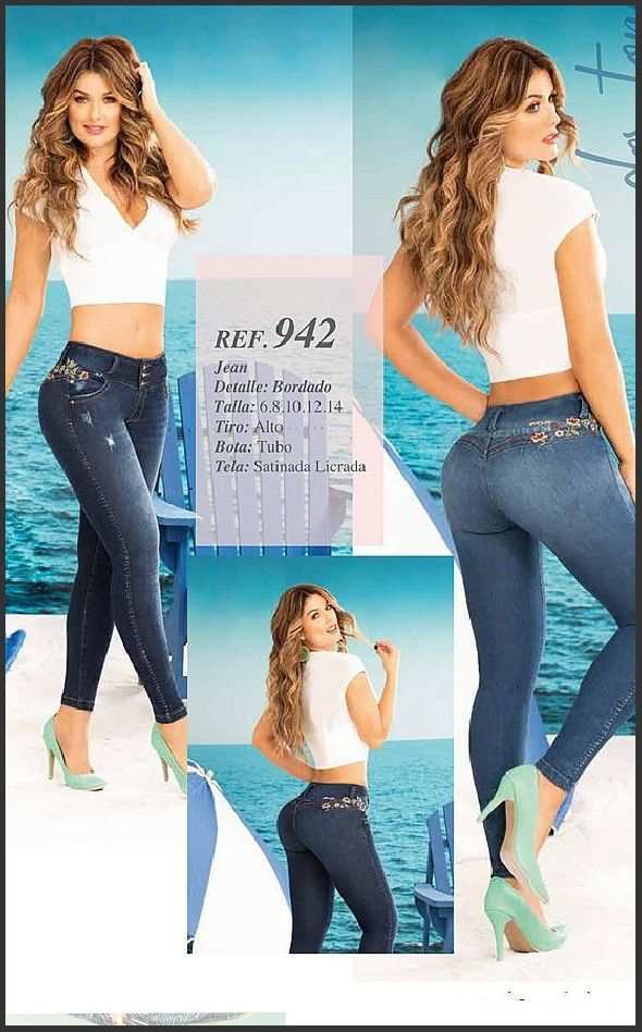 Jeans Colombianos B Violet En New Mexico Looks Modelos Roupas