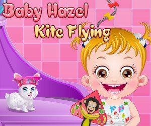 Малышка Хейзел Запуск Воздушного Змея, http://www.babyhazelworld.com/game/malyshka-hjejzjel-zapusk-vozdushnogo-zmjeja. Помоги малышке Хейзел сделать воздушного змея, чтобы затем запустить его в парке вместе с друзьями и их воздушными змеями