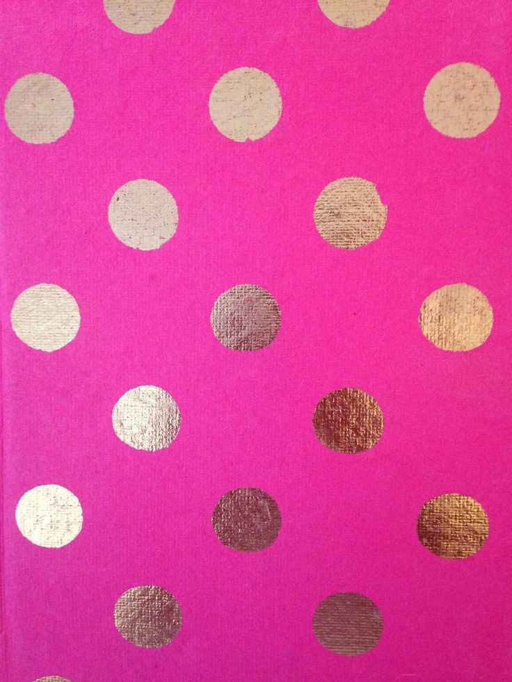 pink and gold polka dots wallpapers pinterest