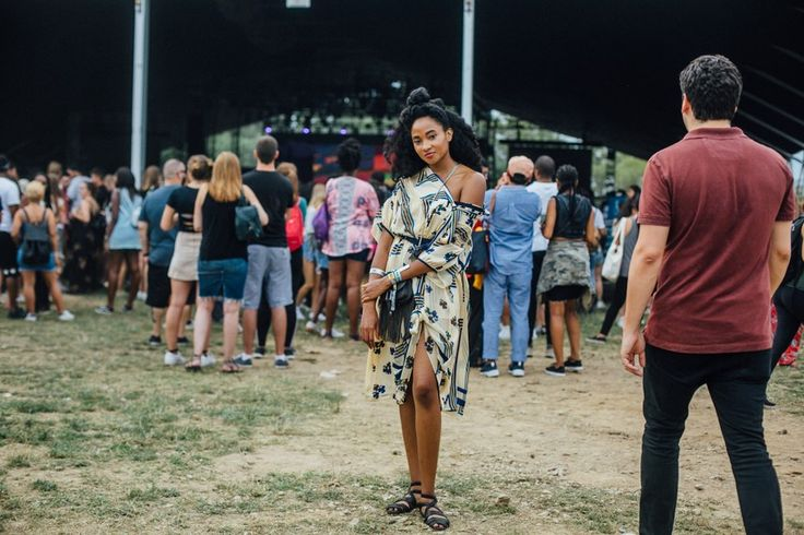 Street style scenes from the 2nd annual Panorama music festival presented in Randall's Island Park in New York City.
