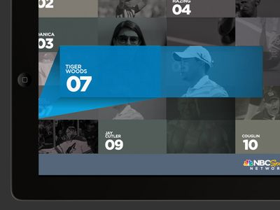 iPad UI for NBC Sports Network 2