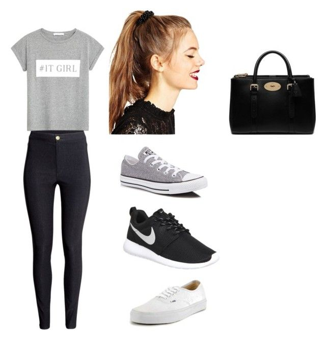 Untitled #27 by malineiksa on Polyvore featuring polyvore, fashion, style, MANGO, H&M, NIKE, Converse, Vans, Mulberry and ASOS