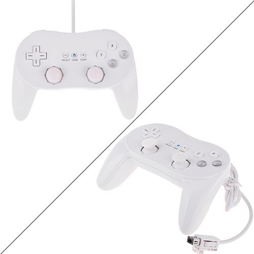 Wii Classic Game Controller - Pro Wired White Game Controller for Wii #wii #controller #game #cellz