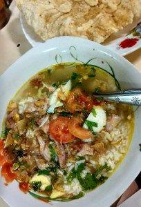 Soto Ayam (Chicken Spiced Soup) Gang Dahlok, Semarang, Central Java, Indonesia