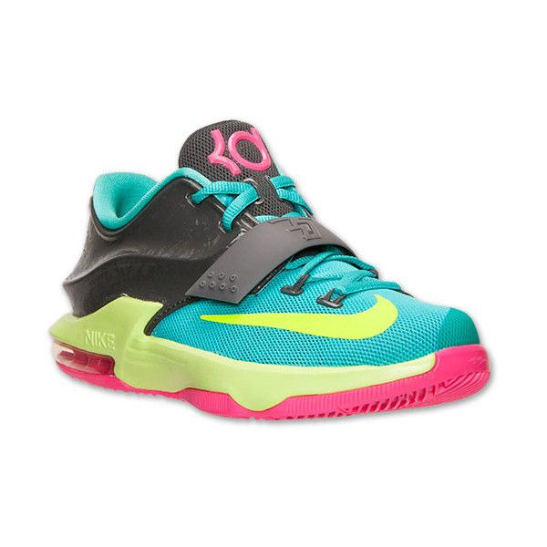 Boys' Grade School Nike KD 7 Basketball Shoes ❤ liked on Polyvore featuring shoes