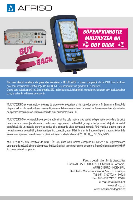 AFRISO: Superpromotie MULTILYZER Buy-back