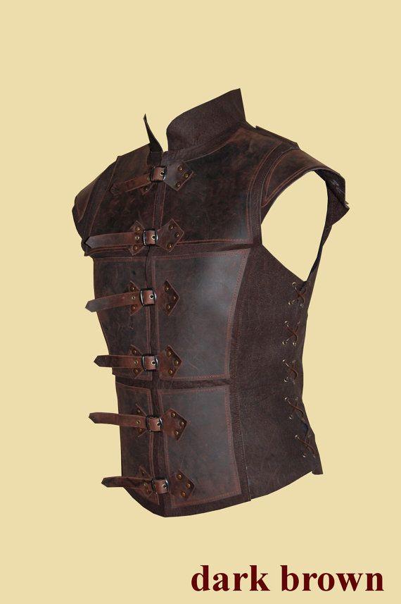 Reinforced leather Jerkin for men – Deluxe- Larp, Fantasy