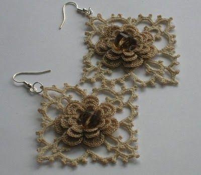 Sidney Artesanato: Brincos de Crochet um luxo...