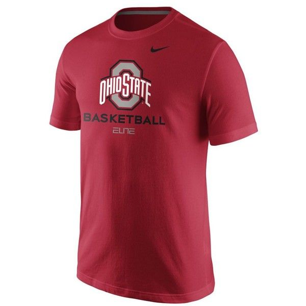 Nike Men's Ohio State Buckeyes Basketball University T-Shirt ($20) ❤ liked on Polyvore featuring men's fashion, men's clothing, men's shirts, men's t-shirts, red, nike mens shirts, mens red t shirt, nike mens t shirts, mens red shirt and mens t shirts