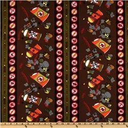 Buzz Off Stripes Brown (fabric.com)