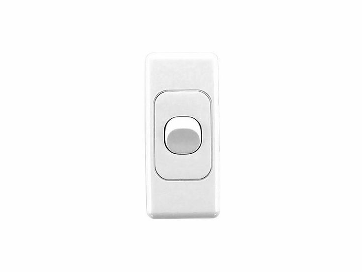 Clipsal Architrave Single 1 Gang Light Switch Wall Plate 2030 White 2000 Series