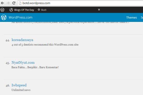 BOTD Top Blogs