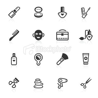 beauty icons #vector