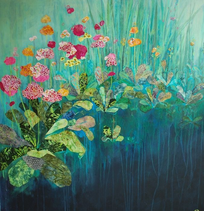 Primula, Anna Perlin. Mixed media.