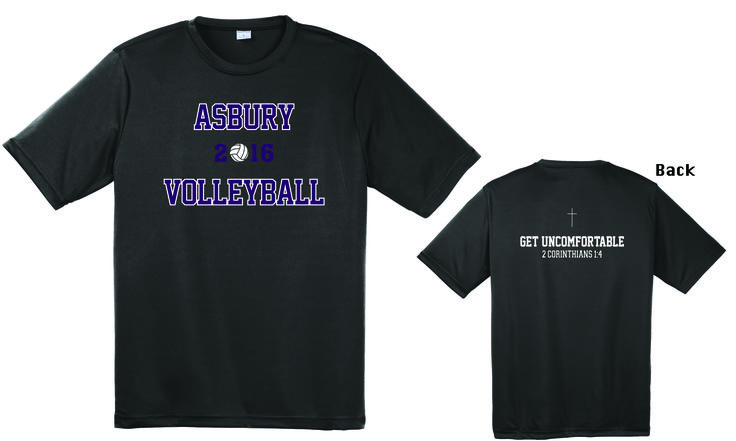 We just finished printing these Competitor T-Shirts for the girls Asbury University Volleyball Team to use during practices. We pray for a great season...GO EAGLES!