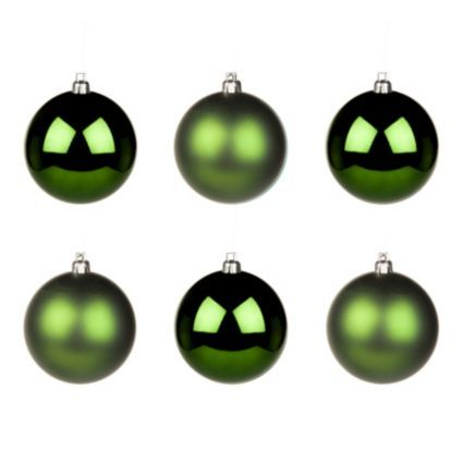 Green Metallic Bauble Tree Decorations will add the perfect finishing touch to your Christmas tree #Festive #Decor