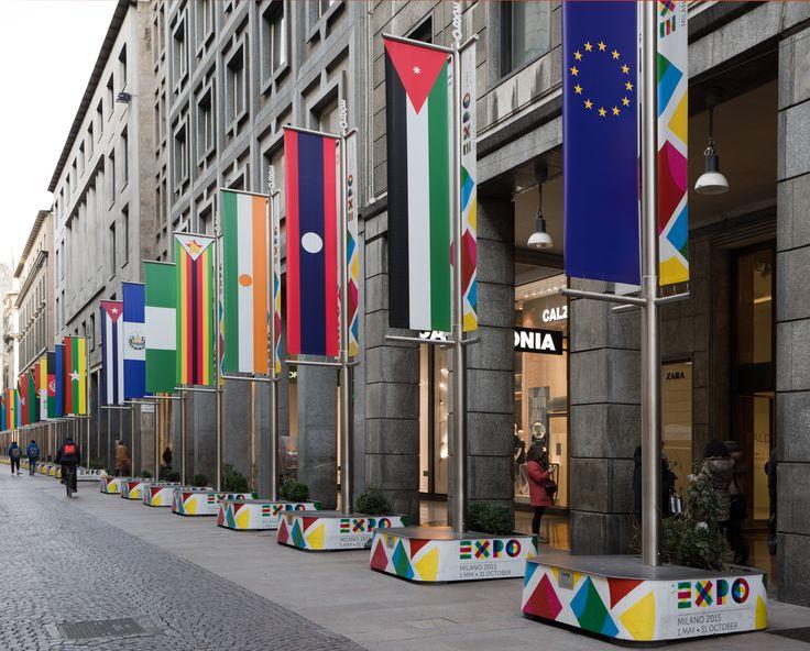 #expo #flags #design #urban #flagsboulevard #milan #installation